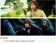 Sassy Bilbo Baggins Tolkien Lord of The rings movies Gandalf, Legolas, Thranduil, Narnia, Lotr, Baggins Bilbo, Thorin Oakenshield, Rings Tumblr, O Hobbit