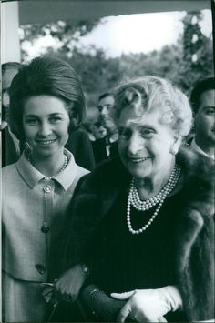 Queen Sofia of Spain with her grandmother-inlaw Queen Victoria-Eugenie of Spain.