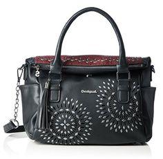 #Desigual Tasche - Modell Loverty Luxury Dreams. Muster:  Mandala, schwarz.
