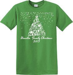 Gift Christmas Tree Family Pajamas Kelly Green Personalized Shirt