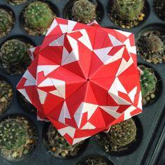 いいね!104件、コメント3件 ― OrigamiMathThailandさん(@narong_pbru)のInstagramアカウント: 「Sonobe variations #sonobe #sonobevariations #origami #origamipaper #origamiart #kusudama…」