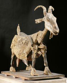 'the goat' by pablo picasso Henri Rousseau, Henri Matisse, Plaster Sculpture, Art Sculpture, Animal Sculptures, Geometric Sculpture, Pottery Sculpture, Bronze Sculpture, Georges Braque