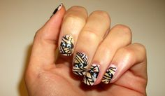 My #manicure for #Fabulousity: #mummies for #Halloween with #tutorial