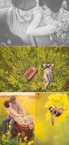 best engagement session ever. except for the bee - what the heck is with the bee. No bees in my photos.