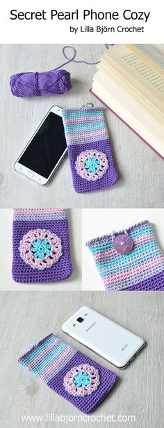 Very easy to follow pattern aimed to beginners. Usinf it you can crochet a new cover for your mobile phone, tablet or sunglasses. Free pattern by Lilla Bjorn Crochet. www.lillabjorncrochet.com