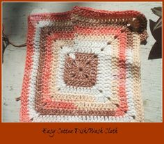 Solid Granny Square, free crochet pattern by Home made hats by Cheryl