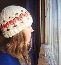 Ravelry: Fox and Fleur Cap pattern by Sara Kay Hartmann Baby Knitting Patterns, Baby Patterns, Knitting Yarn, Crochet Patterns, Knitting Ideas, Sweater Patterns, Sara Kay, Knit Crochet, Crochet Hats