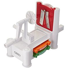Amazon.com: Paderno World Cuisine Spiral Vegetable Slicer / Countertop-Mounted Plastic Spiralizer Basic incl. 3 Different Blades Made of Stainless Steel: Kitchen & Dining