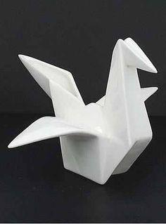Origami crane vase
