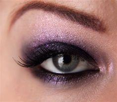 Dark & sparkly MAC look