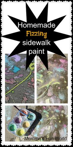 Fizzing scented sidewalk paint for kids of all ages