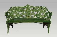 Cast Iron Furniture -want this for my front porch! Cast Iron Furniture -want this for my front porch Cast Iron Garden Furniture, Iron Furniture, Outdoor Garden Furniture, Outdoor Decor, Furniture Makeover, Wrought Iron Bench, Cast Iron Bench, Banquettes, Muebles Art Deco
