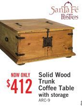 Solid Wood Trunk Coffee Table with Storage from The Brick $412.00