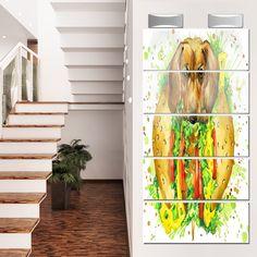 Designart 'Funny Dog inside Sandwich' Contemporary Animal Glossy Metal Wall Art
