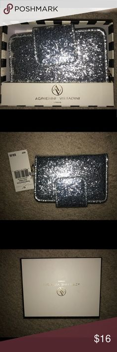 Adrienne Vittadini Wallet NWT Beautiful Adrienne Wallet! Sparkly and Girly...perfect Christmas present! New in box with tags! Adrienne Vittadini Other