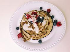 Pancake Stack, Banana Pancakes, Dairy Free, Protein, Vanilla, Coconut, Butter, Favorite Recipes, Organic