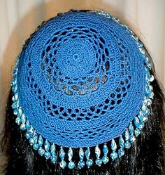 Crochet a Kippah, free crochet pattern by This and That from Katydid Kat