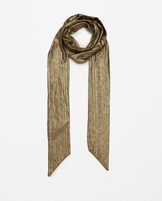 Image 1 of SMALL PRINT METALLIC EFFECT HANDKERCHIEF from Zara