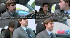 the office.laughed for a good five minutes over this one. This is also the episode where Jim smacks the shit out of Dwight! The Office Jim, The Office Show, The Office Facts, The Office Dwight, Office Fan, Office Quotes, Office Memes, Parks N Rec, Parks And Recreation