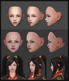 Face, Kim yong bae on ArtStation at https://www.artstation.com/artwork/Oy2Rw