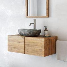 Small Bathroom Sink Vanity, Stone Bathroom Sink, Floating Bathroom Vanities, Next Bathroom, Vanity Basin, Wall Mounted Bathroom Sinks, Bathroom Vanity Cabinets, Wc Design, Guest Toilet