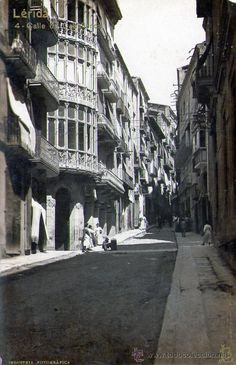 LLEIDA LERIDA CALLE CABALLEROS INDUSTRIA FOTOGRAFICA LB 4 (Postales - España - Cataluña Antigua (hasta 1939) - Lleida)