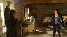 Claudia desperately appeals to Artie's true self as he aims the dagger at the deadly orchid