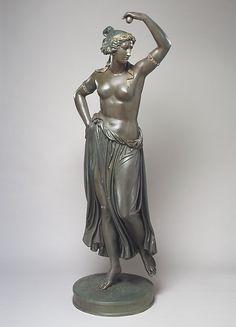 Ludwig Michael von Schwanthaler (1802–1848). Dancing Girl, cast in 1854. German (Munich). The Metropolitan Museum of Art, New York. Gift of Griffith Rowe, 1872 (72.4) #dance