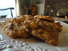 pumpkin oatmeal cookies, tastes like pumpkin pie -- i made these and they're awesome -- i've also substituted sweet potatoes for the pumpkin puree, also yummy