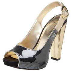 Due Farina Women's Wet Sling Peep Toe Pump, (high heels) Black Peep Toe Pumps, Peep Toe Shoes, Women's Pumps, Pump Shoes, High Heels, Wedges, Ss, Nude, Amazon