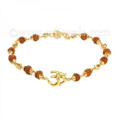 22 karat yellow gold men's bracelet with the symbol Om and rudraksha beads all round is a great pick for devotees of Lord Shiva. Shop now at Raj Jewels! Mens Gold Bracelets, Jewelry Bracelets, Bangles, Religious Jewelry, Lord Shiva, Gold Jewelry, Om, Lovers, Wedding Ideas