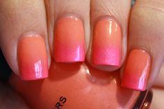 grape fizz nails: Gradient Mani