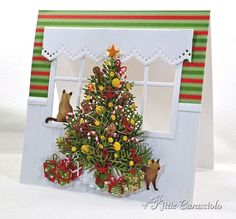 Christmas Tree and See Through Window - KittieKraft