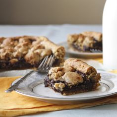 Peanut butter cookie & brownie layer bar... divinely combining two classic favorites!