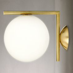 Buy Flos IC Lights 200 Wall Light, Brushed Brass | John Lewis