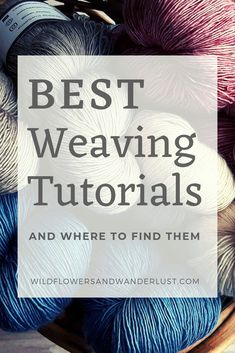 Here are the best weaving tutorials that we found when we decided to try these fun DIY projects. These are beginner tutorials with lots of photos' and info. Weaving Loom Diy, Pin Weaving, Weaving Art, Tapestry Weaving, Weaving Textiles, Weaving Patterns, Good Tutorials, Craft Tutorials, Weaving Projects