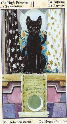 Tarot des chats païens - La Papesse