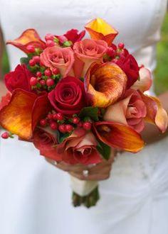 Blumenstrauß für die Herbsthochzeit - Brautstrauß -