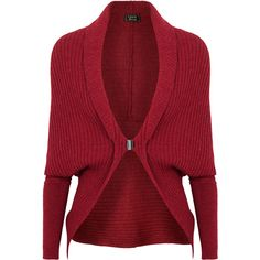 Lanvin Ribbed Alpaca-Blend Shrug ($220) ❤ liked on Polyvore featuring tops, cardigans, sweaters, outerwear, jackets, red, red dolman sleeve top, ribbed top, shrug cardigan and ribbed cardigan