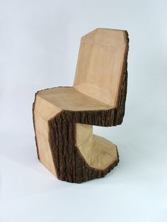 Slovakian designer Peter Jakubik's latest creation is the coolest chair I've seen in a long time. Inspired by legendary Danish furniture designer Verner Panton's iconic Panton S chair, Jakubik's Panton DIY is carved from a single log with a chainsaw.