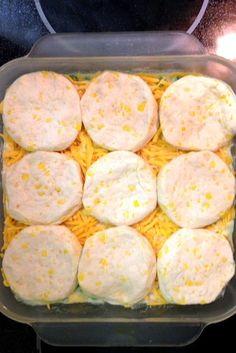 4* the Three Little Birdies: {recipes} Chicken & Biscuit Casserole. 2 C Chicken, biscuits, sour cream, cream of chicken soup, cheese, milk, butter. Variation: omit peas, substitute carrots or corn. Use 1/2 C melted butter.