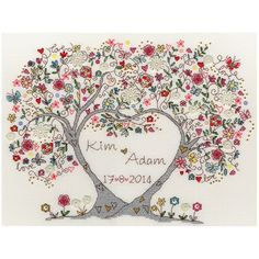 Heart Wedding Sampler Cross Stitch Kit