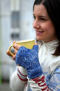 Sunshine Fingerless Mitts - 1 of 4 patterns in Kate Bostwick's Powder Day collection