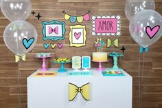 Tea Party Birthday, Unicorn Birthday Parties, First Birthday Parties, First Birthdays, Party Decoration, Birthday Decorations, Heart Party, Party In A Box, Get The Party Started