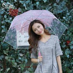 Mori Girl Umbrella on Mori Girl の森ガール.Mori Brisk Cherry Blossom Long Umbrella Girly Girl Outfits get yourself ready to look cute.