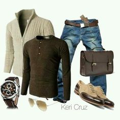 A relaxed, casual but stylish man outfit. That's what this look says.