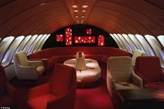 The lounge on Colombia's Avianca Airlines Boeing 747 hasn't dated nearly as much as its North American counterparts.
