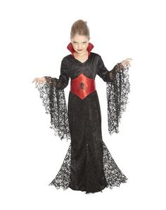 Black Lace Vampira Girls Costume. A more appropriate version of a vampire costume if this is what your little girl wants to be for Halloween. She doesn't have to look like a hooker to dress up as the undead!