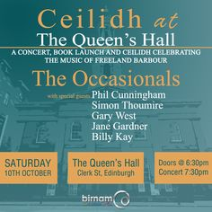 Freeland Barbour is set to launch his new book, The Music & The Land, with a special ceilidh at The Queen's Hall, Edinburgh​ this coming Saturday. The concert will feature a headline set from The Occasionals​, and special guests Phil Cunningham​, Simon Thoumire​, Gary West, Jane Gardner and Billy Kay.  More info and tickets: http://www.thequeenshall.net/whats-on/shows/the-music-and-the-land-celebrating-the-music-of-freeland-barbour-2015