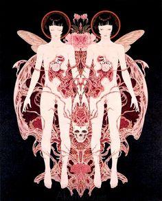 Takato Yamamoto Necrophantasmagoria Ltd Ed (inside page) Ero Guro, Japanese Horror, Mark Ryden, Audrey Kawasaki, Japanese Artwork, Macabre Art, Scary Art, Japan Art, Japanese Artists